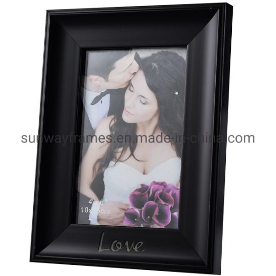 Black Photo Frame with Words Below pictures & photos