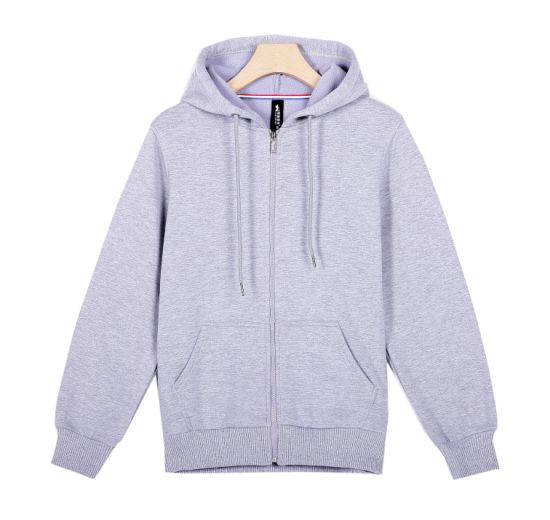 Hoodies Men Long Sleeve Washed Dress Hoody with Ribbing on Cuffs and Hem