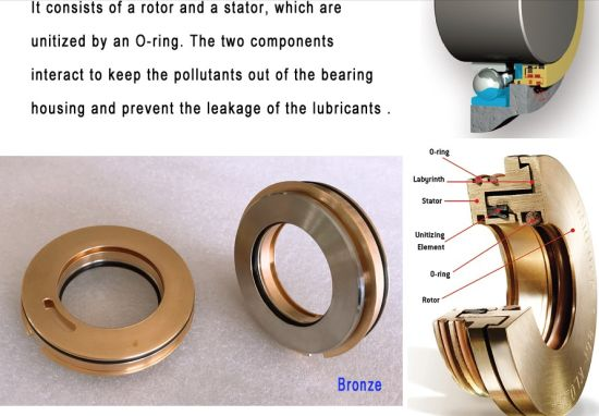 China Ptfe Labyrinth Seal Brass Bearing Protector Bronze