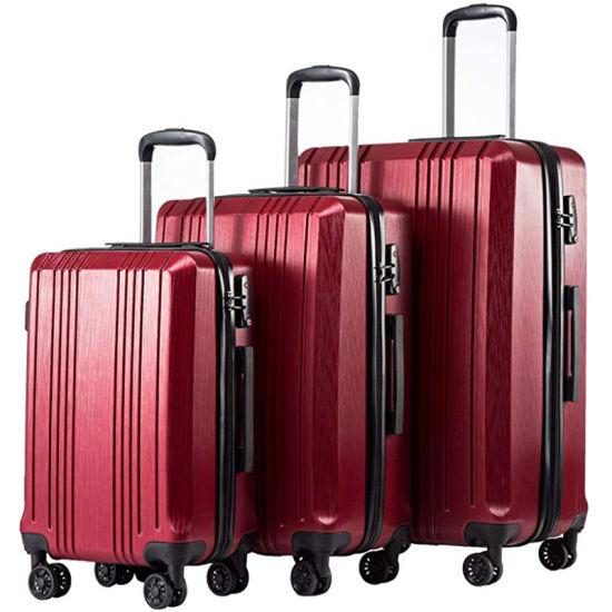 Fashion Portable Expandable Suitcase Trolley Travel Luggage with Tsa Lock