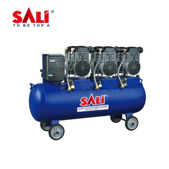 Sali 72150 3X1500W 3industrial AC Portable Screw Rotary Piston Silence Oilless Air Compressor