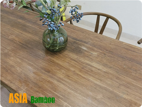 Strand Woven Carbonized Bamboo Tabletops