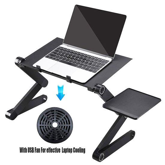 Adjustable Laptop Bed Table Portable, Portable Folding Computer Desk Laptop Notebook Reading Tablet