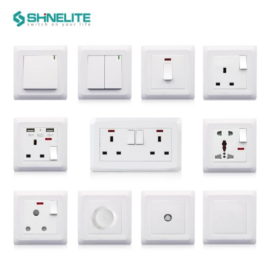 13A 5 Pin Multi-Function Electric Switch Socket with Neon