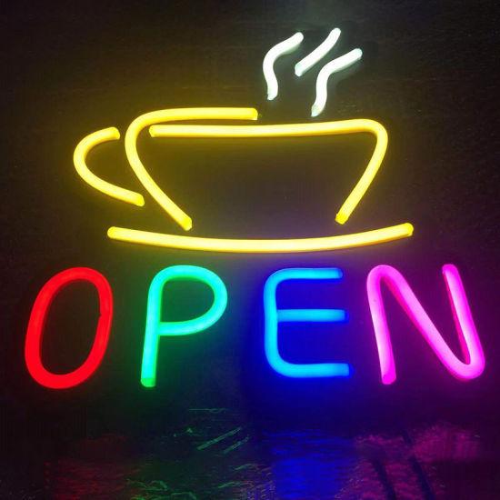 DC12V 24hours Shop Advertising LED Neon Sign Open