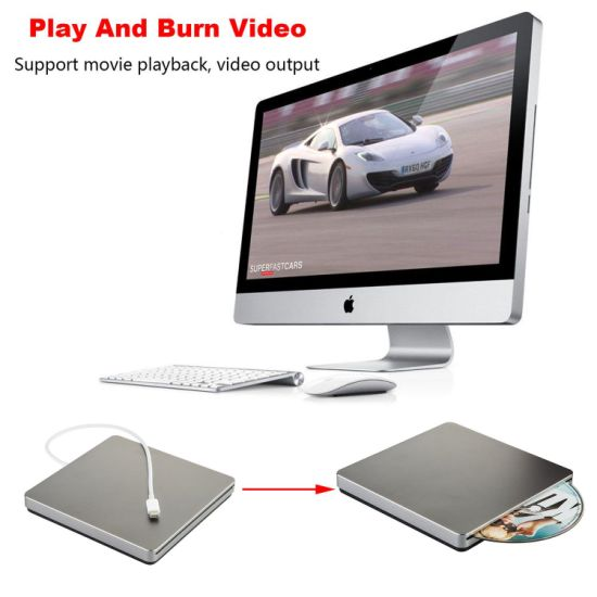 USB DVD Drive Recorder for Apple Computer (Grey) pictures & photos