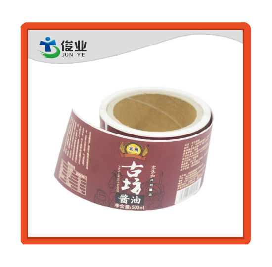 High Quality Soy Sauce Sticker/Customized Printing Sauce/Seasoner Label