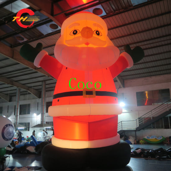 20FT Inflatable Christmas Santa Claus, LED Light Advertising Inflatable Christmas Old Man Decoration pictures & photos