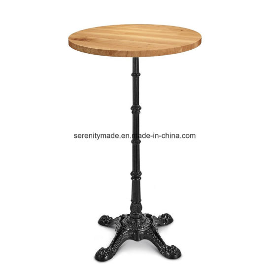 China Solid Walnut Wood Round Bar Table