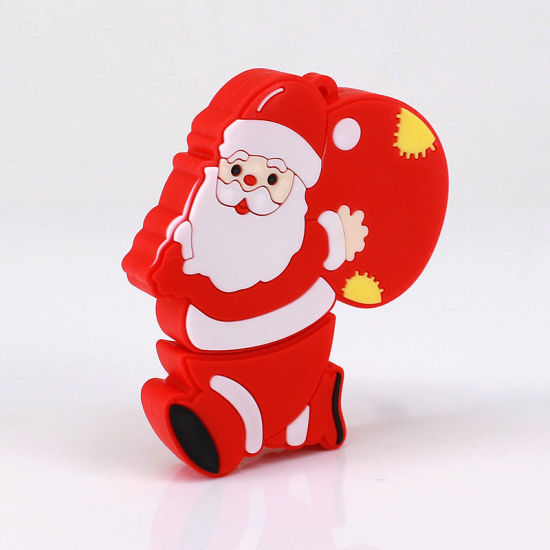 best christmas gift custom soft pvc santa claus usb pen drive