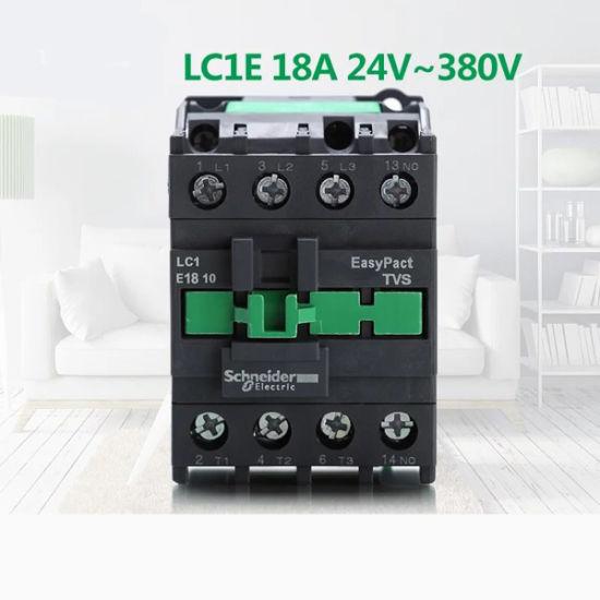High Quality LC1e1810 3pole 380V 18A 1no AC Contactor