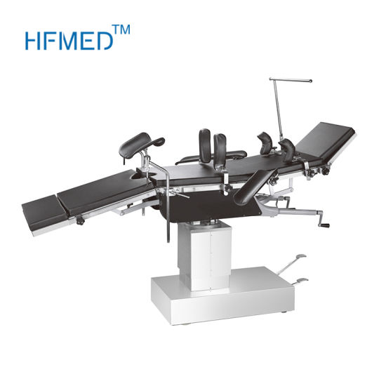 X Rays Manual Hydraulic Operating Table with Kidney Bridge pictures & photos