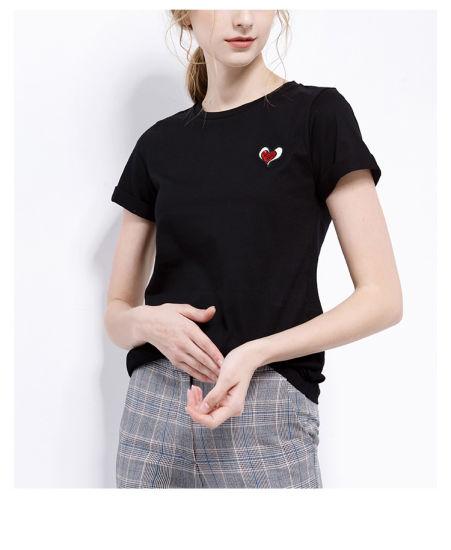 High Quality Fashion Cotton Women T-Shirt of OEM Guangzhou