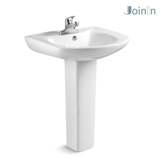 Bathroom Ceramic Wash Hand Pedestal Basin From Chaozhou (PB204) pictures & photos