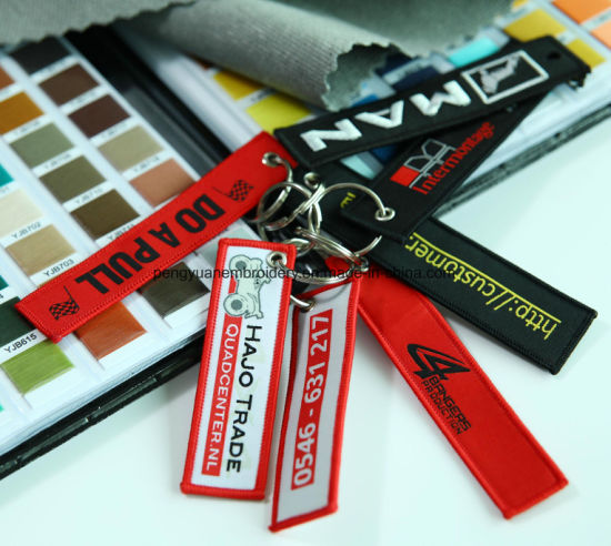 Customized Woven Label for Key Chain