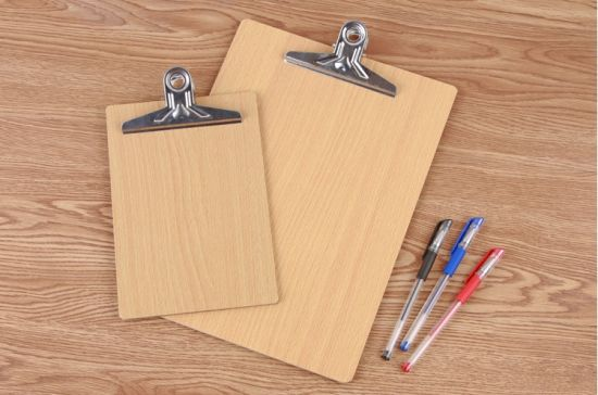 china a4 a5 mdf writing wooden clipboard with metal clip china