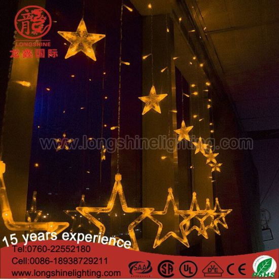 LED IP 65 Twinkle Icicle Light for Christame Decoration with Star Shape pictures & photos