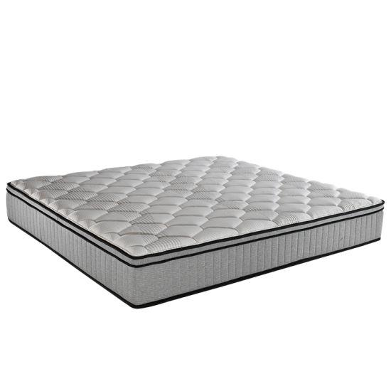 High Quality Euro Pillow Top Latex Foam 7 Zone Pocket Spring Mattress Price