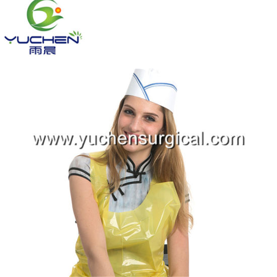 Disposable Hotel Restautant Recycled Paper Chef Hat