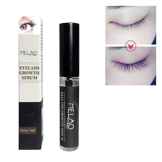 Organic Eyelash Eyebrow Growth Liquid Serum Grows Longer, Fuller, Thicker Lashes & Brows
