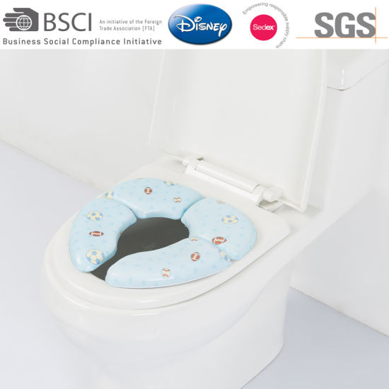 Folding Customized Soft Kids Potty Seat Cover pictures & photos