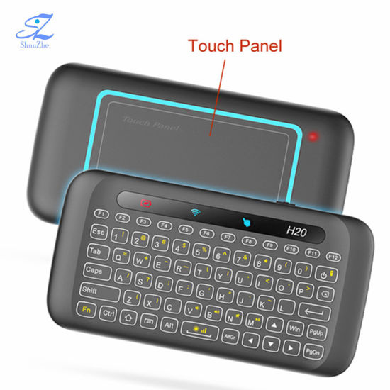 H20 Double Sided Touch Keyboard Full Screen Touchpad 2.4GHz Wireless Mini Keyboard for Laptop Smart TV Box