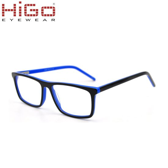 China Wholesale Glasses with Acetate Frame Material Optical Frames ...