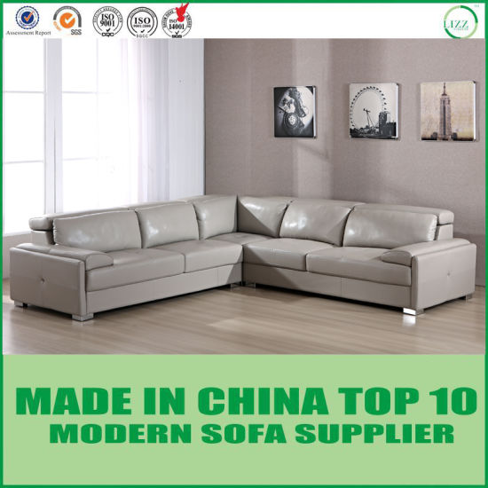 Modern Italian Leather Sectional Corner Sofa - China Couch ...