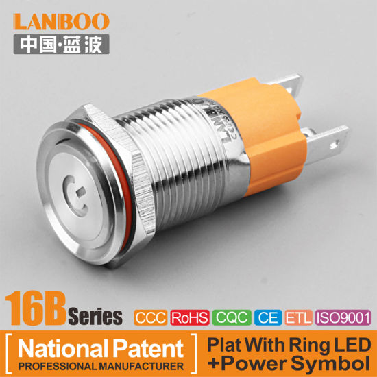 AC 220V Light Illuminated ON OFF START STOP Momentary Push Button Switch 30mm