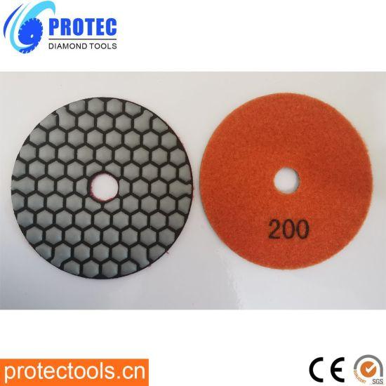 "Diamond Polishing Pads/Diamond Tools/Polishing Tool/Polishing Pad/Wet&Dry Polishing Pads/Flexible Polishing Pads 4""/105mm/7 Step Polishing Pad3"