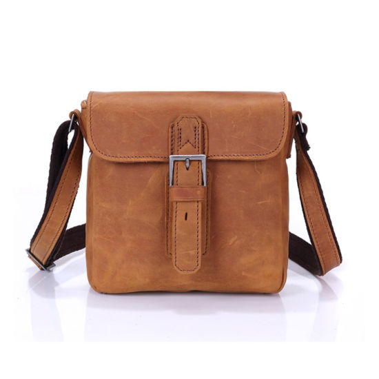 China Factory Cheap Price Leather Shoulder Bag Handbags Leather Messenger Bag for Men pictures & photos