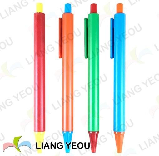 Plastic Ball Pen Creative Multicolor Advertising Pen Can Be Customized Logo