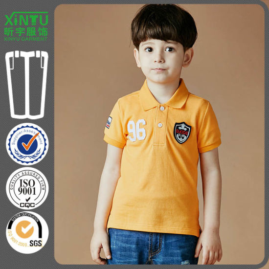 335ad921 2018 New Design Embroidery 100% Cotton Fashion Boys Polo Shirts pictures &  photos