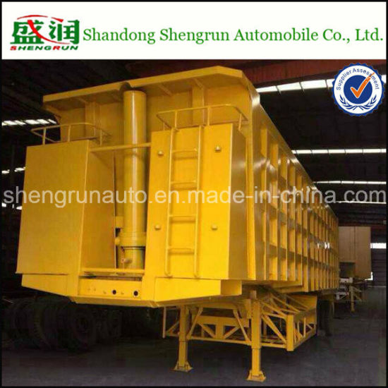 Hot Selling 20t-100t Hydraulic Rear Dump Semi -Trailer pictures & photos