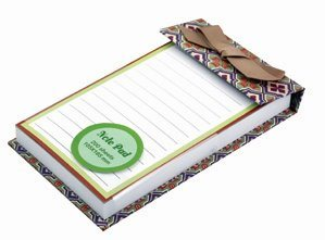 Customized Printing Notepad with Ribbon, Wholesale Notepad pictures & photos