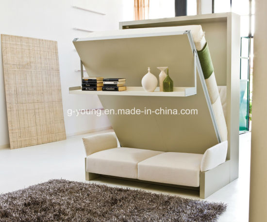 Murphy Bed with Storage Space Sofa Combination for Hotel Furniture