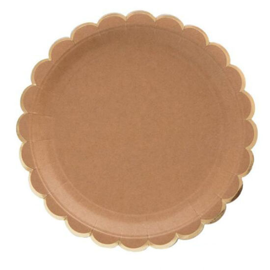 Disposable/ Compostable/Bio Kraft Paper Party Plates/Cup/Napkin/Straws /Cutlery pictures & photos