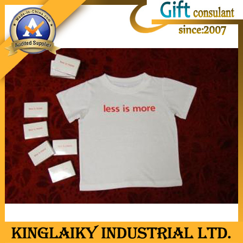 100% Cotton Compress T-Shirt with Logo Printing for Promotion (KST-001) pictures & photos