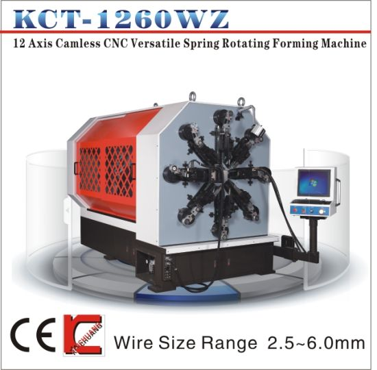 Kcmco-Kct-1260wz 6mm 12 Axis Camless CNC Versatile Spring Forming Machine&Extension/Torsion Spring Making Machine pictures & photos