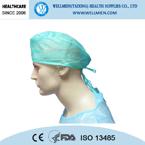 Disposable Medical Non-Woven Doctor Cap with Tie on pictures & photos