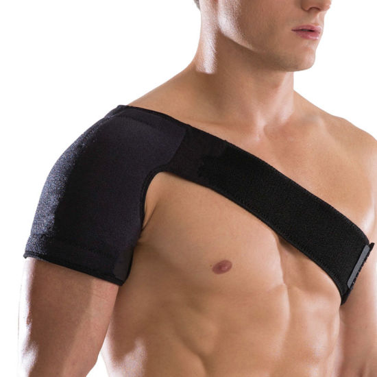 Adjustable Neoprene Breathable Gym Sports Care Single Shoulder Support Brace Guard Strap Wrap Belt Band Pads Black Bandage Unisex Esg12992 pictures & photos