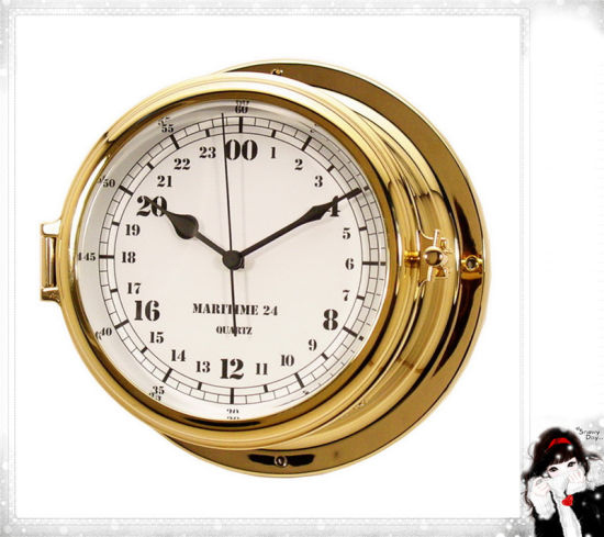 [Hot Item] 24 Hour Arabic Numberals Dial 180mm Nautical Military Time Clock