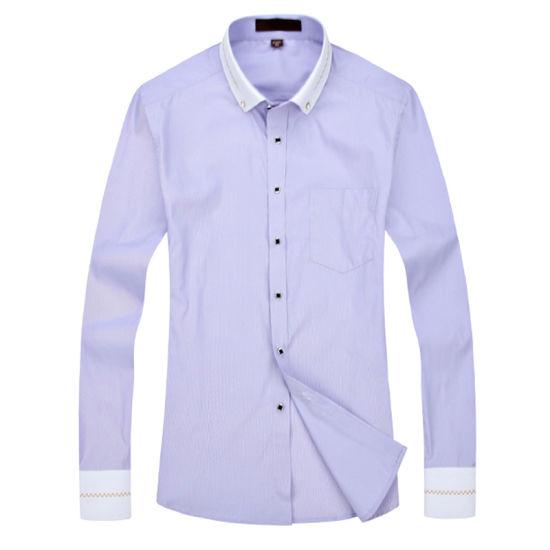 61ed0e96ff98 Cotton Latest Design White Business Long Sleeve Mens Dress Shirts pictures  & photos