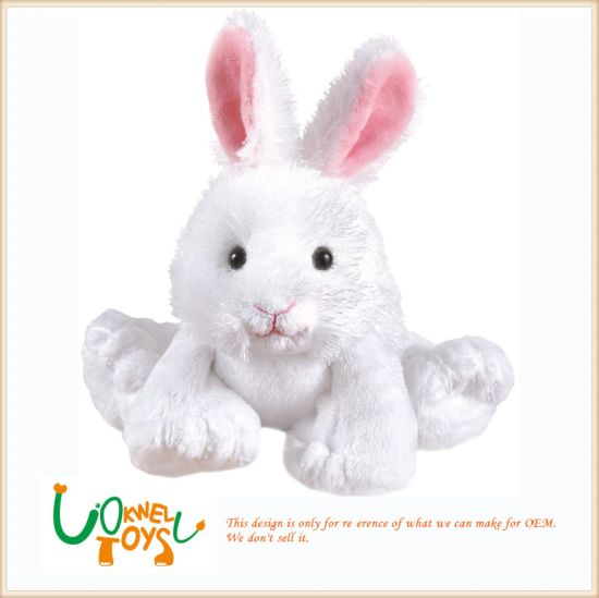 937fe7e17f6b China Plush Pink-White Stuffed Rabbit Girls Children Toys - China ...
