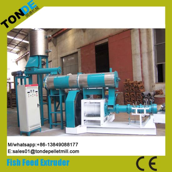 Screw Dry Floating Fish Feed Pellet Processing Machine Extruder pictures & photos