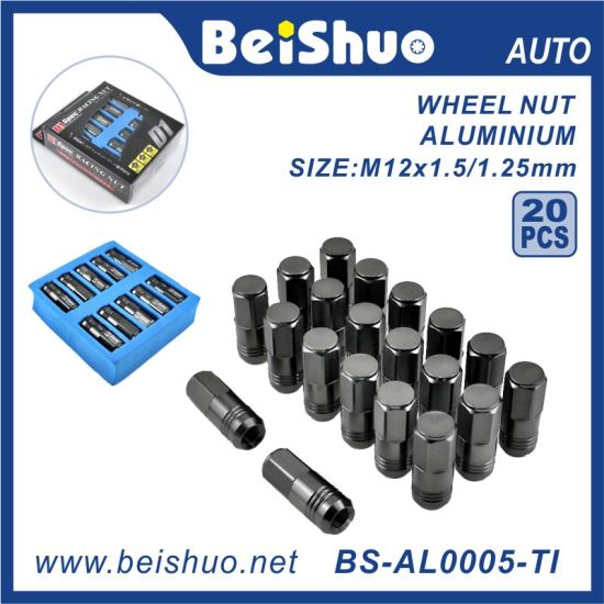 20PCS Universal Aluminum Wheel Nut for Auto Racing