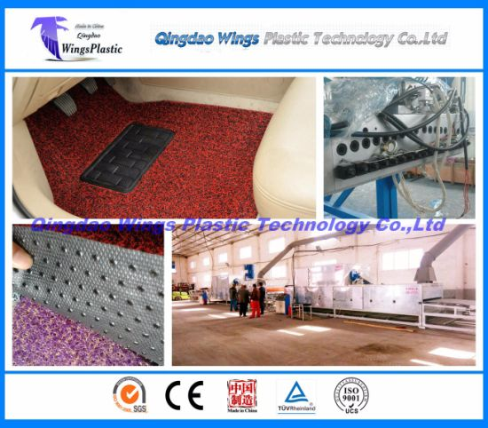 PVC Coil Car Carpet / Mat Production Line, PVC Matting Roll Extruder Machine pictures & photos