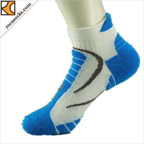 161016sk- Fashion Jacquard Men Walking Cushion Socks