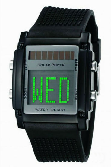 OEM High Quality Promotional LED Solar Watch pictures & photos