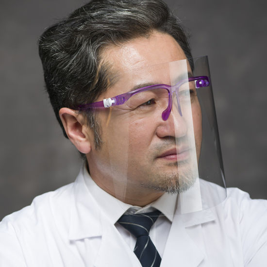 Semi, Colorful Clear Safety Face Shield with Glasses Face Shield